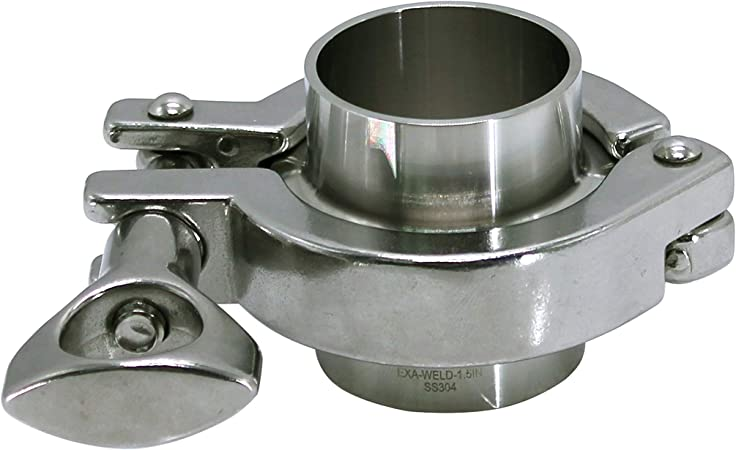 R HFS 1.5in Tri Clamp Clover Stainless Steel 304