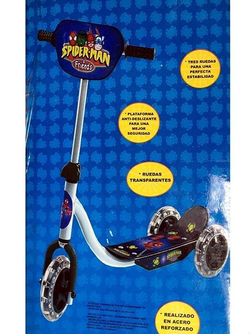 Patinete 3 ruedas (acero reforzado • Super Heros Spiderman ...