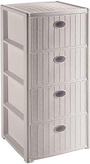 stefanplast cassettiera elegance 4 cassetti bianco