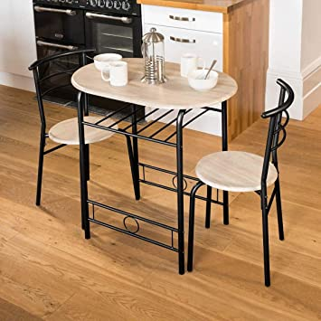 Christow 3 Piece Dining Set Breakfast Bar Kitchen Table Chairs Furniture & Christow 3 Piece Dining Set Breakfast Bar Kitchen Table Chairs ...