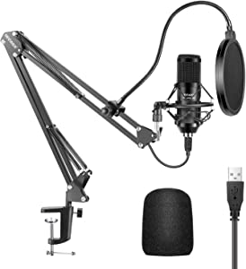 Neewer Upgraded USB Microphone Kit with 25mm Large Capsule, 192KHZ/24BIT Plug & Play Cardioid Podcast Condenser Mic with Pro Sound Chipset for Home/Studio Recording, Gaming, Streaming(NW-8000-USB)