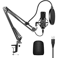 Neewer USB Microphone Kit 192KHZ/24BIT Plug&Play Computer Cardioid Mic Podcast Condenser Microphone with Professional…