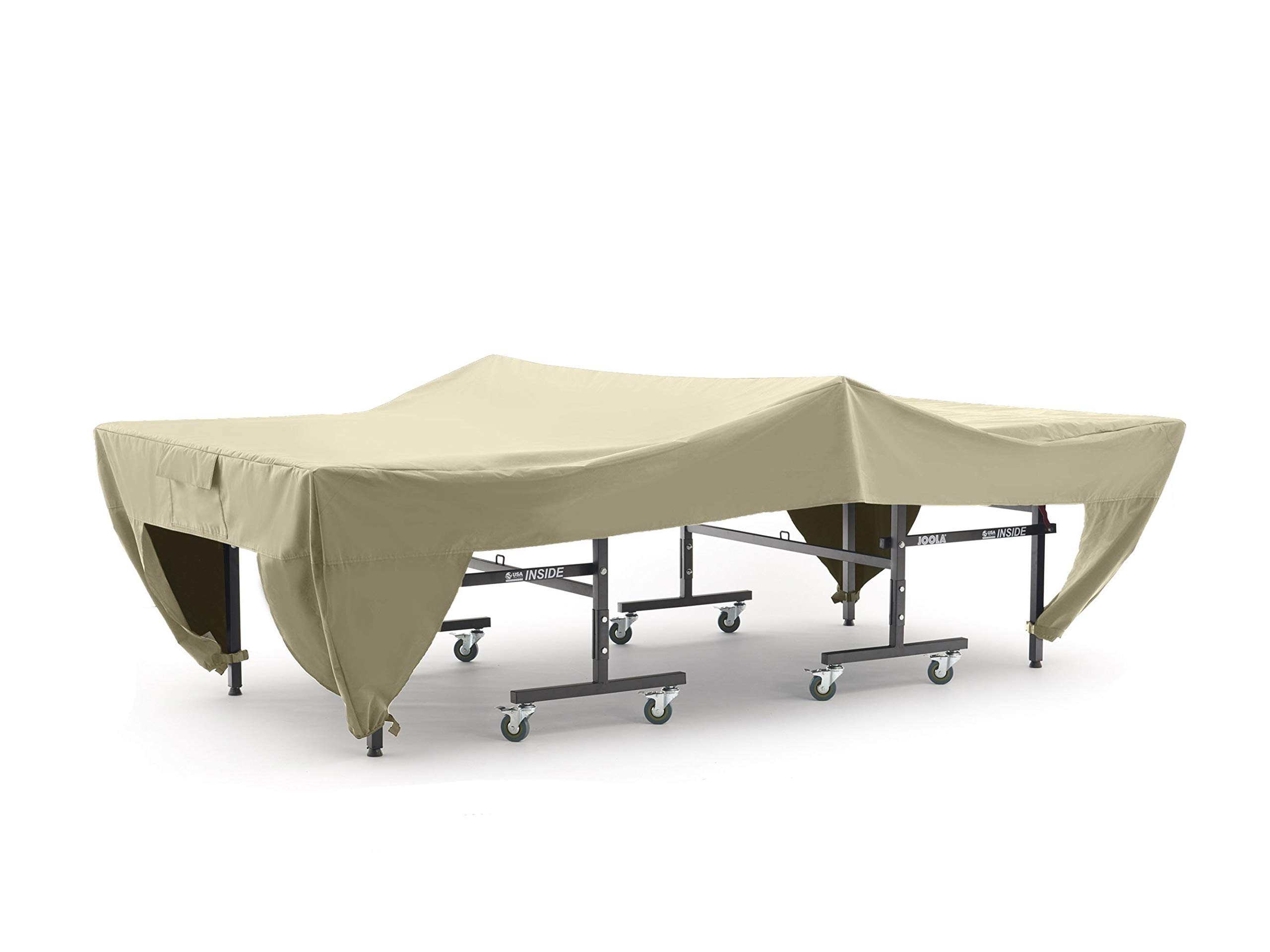 Covermates – Ping Pong Table Cover – 110W x 60D x 30H – Elite Collection – 2 YR Warranty – Year Around Protection- Khaki by Covermates (Image #1)