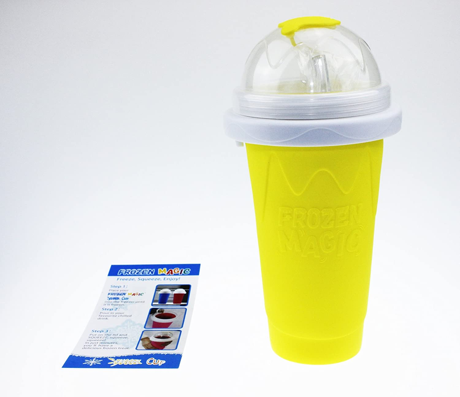 Squeeze Cup Slushy Maker - Yellow [version:x8] by DELIAWINTERFEL