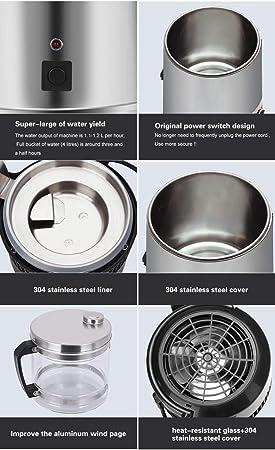 Grifo de agua para el hogar 4L máquina de agua destilada máquina ...