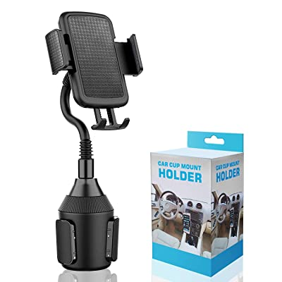 Cup Holder Phone - Mount Universal Adjustable Gooseneck Cup Holder Cradle Car Mount for Cell Phone iPhone Xs/Xr/XS Max/X/8/7 Plus/Galaxy: Home Audio & Theater [5Bkhe1502845]