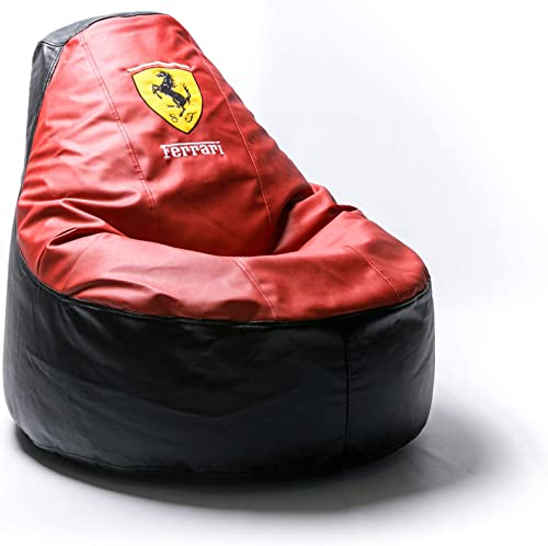 Editors' Choice: Ferrari Supercar Comfortable Kids Adult Game Outdoor Indoor Lounge Chair Cover Inner Bag Without Beans Red