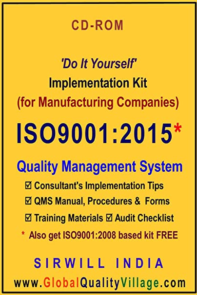 Iso90012015 implementation kit for manufacturing companies amazon iso90012015 implementation kit for manufacturing companies solutioingenieria Image collections