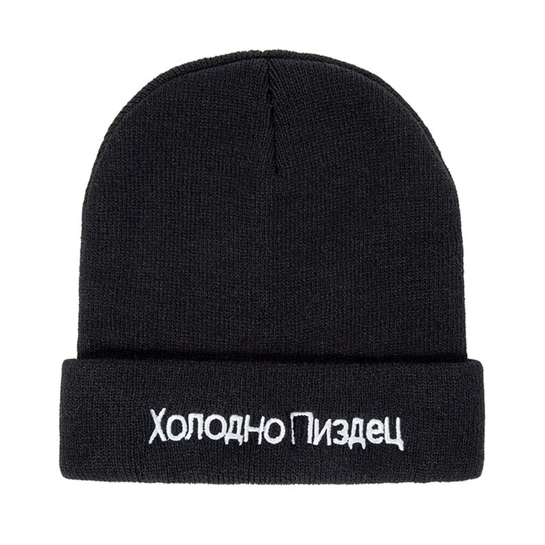 Winter Cap Men Hat Beanie Knitted Hiphop Winter Hats for Women Fashion Warm Caps Russian Letter Winter Hat
