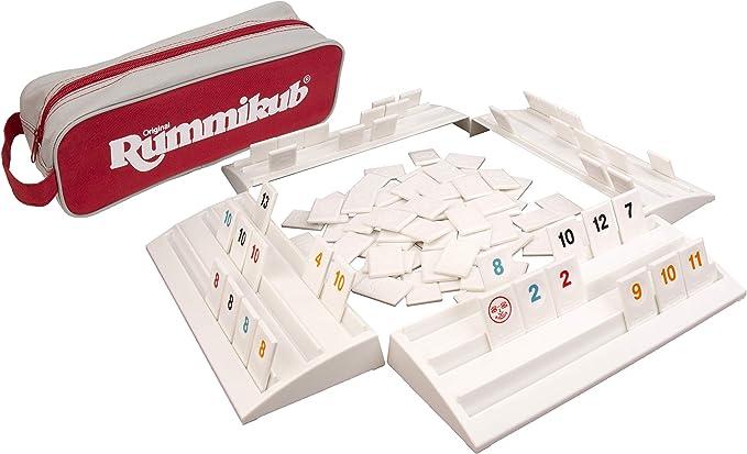 Rummikub El Juego Original Completo Con Estantes Y Azulejos De Tamaño Completo En Una Funda De Almacenamiento De Lona Duradera Por Pressman Amazon Exclusive Toys Games