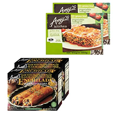 PROMO Amys Kitchen PACK DE 4: Enchilada De Frijol Negro 269g & Lasaña 255g Sin