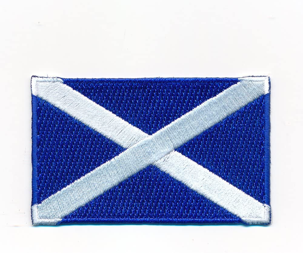 40 x 25 mm Schottland Edinburgh Glasgow Flagge Flag Aufn/äher Aufb/ügler 1061 A