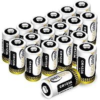 Keenstone Lot de 18 Piles Lithium CR123A, 3V 1600mAh Batterie Lithium Jetable pour Lampe Torche Microphones Caméscope Jouets etc - Pas Compatible avec Certains Arlo