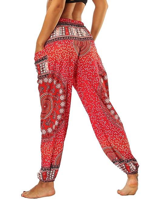 Mujer Pantalones Harem Pantalones Verano Pantalones Yoga ...