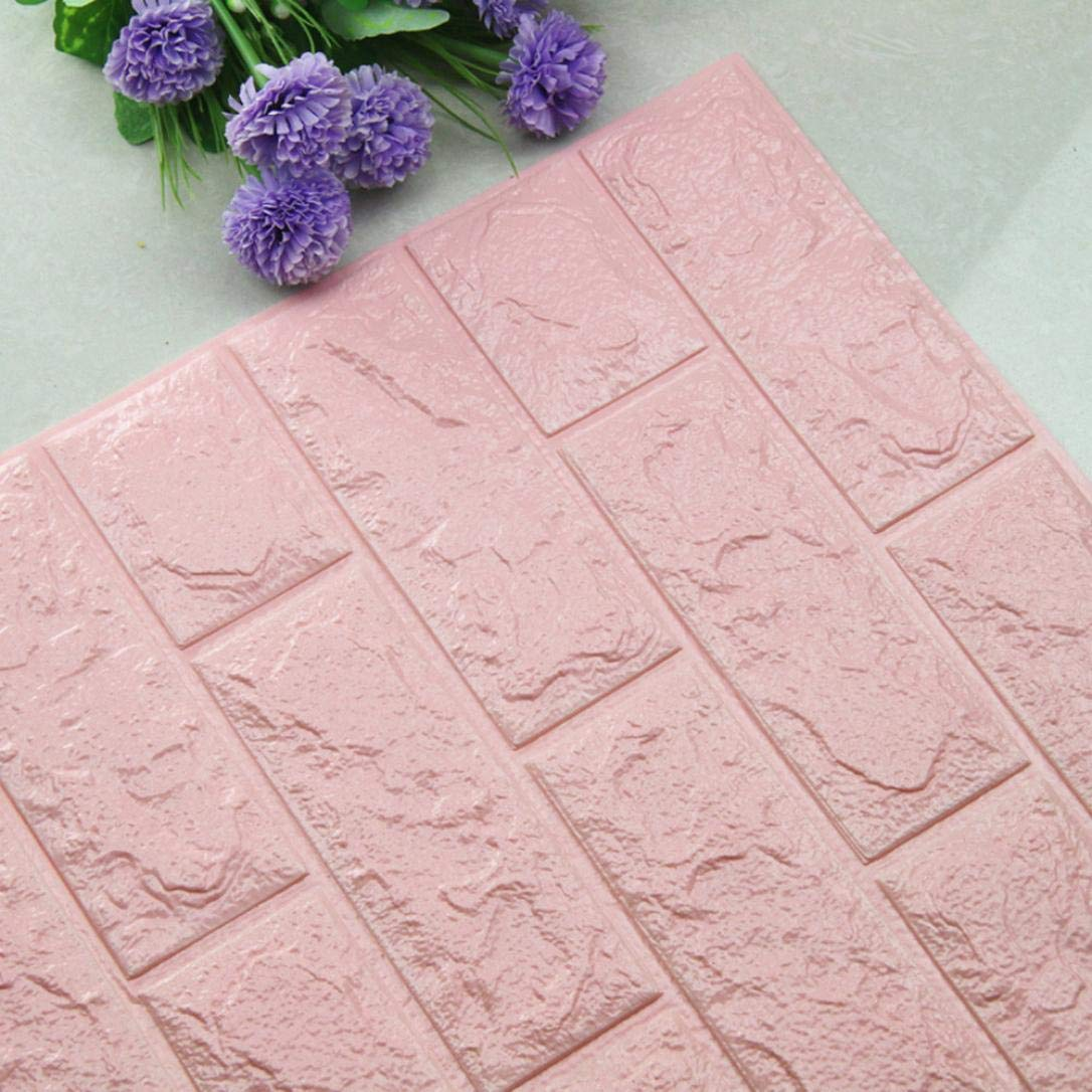 Amazon Com Diy 3d Brick Pe Foam Wallpaper Panels Room Decal Stone Decoration Embossed L Baby