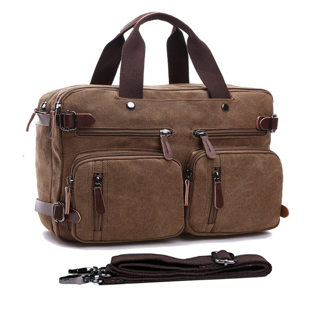 539fd434bd36 durable service Canvas Hybrid Briefcase Backpack Convertible Messenger Bag  Laptop Backpack Travel Rucksack Campus Backpack Shoulder