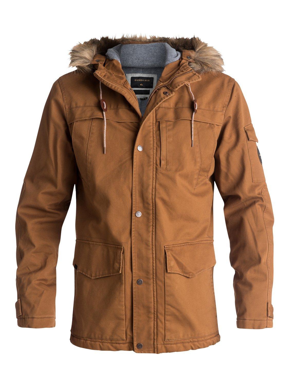 Quiksilver Mens Storm Drop 5K - Waterproof Winter Parka Waterproof Winter Parka Brown Xl