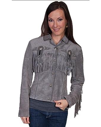 Scully Mujer Flecos y cuentas chaqueta de piel de ante de jabalí - L152 - 86: Amazon.es: Amazon.es