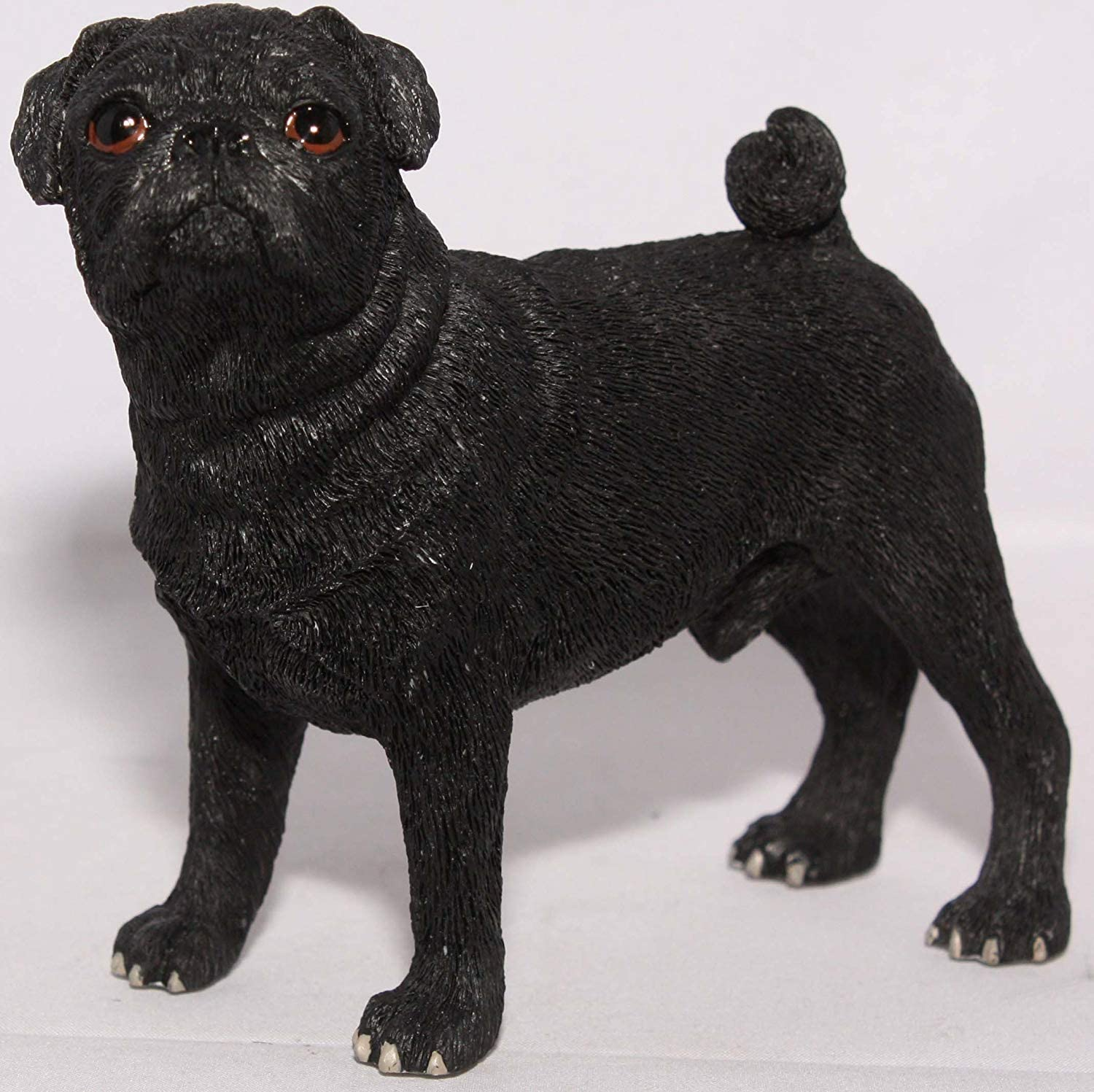 Leonardo Collection Black Pug Figure Ornament Dog Pet Resin Figurine Gift Box