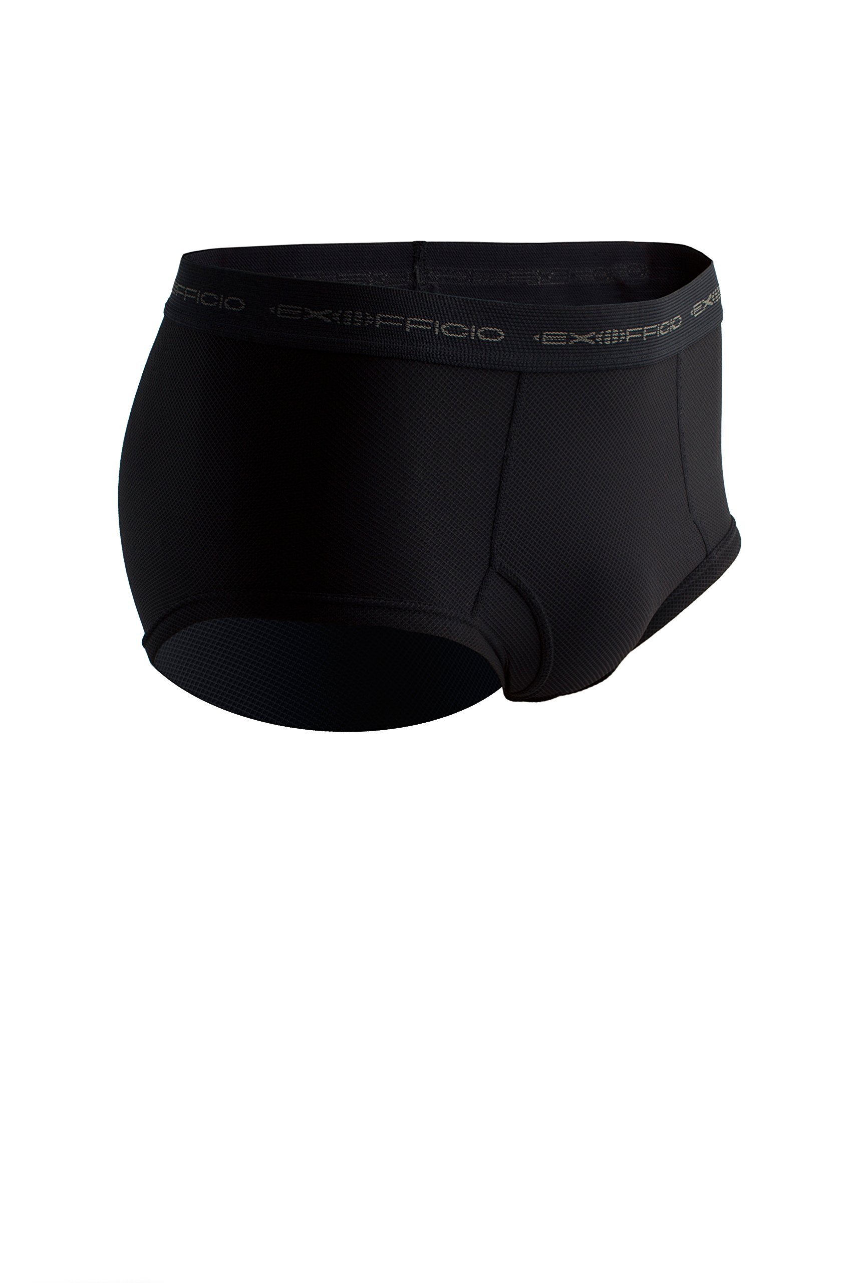 ExOfficio Men's Give N Go Brief, Black, Medium