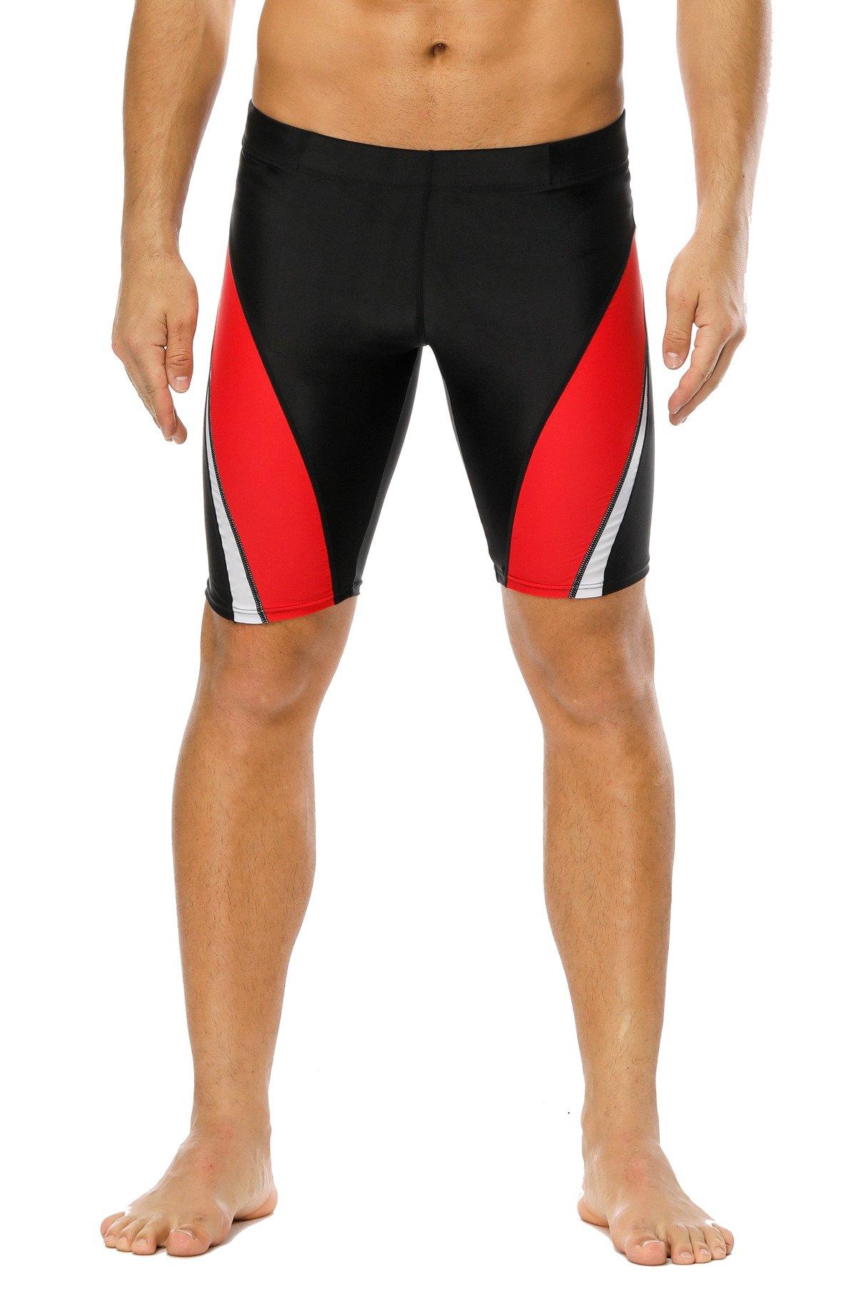 beautyin Mens Swimwear Boardshorts Athletic Swimming Shorts Stretch Swimwear 32