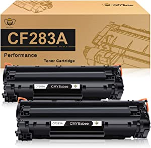 CMYBabee Compatible Toner Cartridge Replacement for HP 83A CF283A Work with HP Laserjet Pro MFP M125a M125nw M127fn M127fw M201dw M201n M225dn M225dw(Black, 2-Pack)