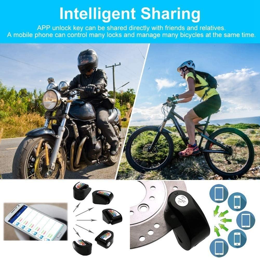 Disc Brake Lock Maxmartt Y801 Smart Bluetooth Motorcycle Bicycle Lock APP Keyless Auto-theft Lock