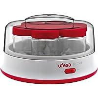 Ufesa Yogurtera Electrica Yg3000, 15 W, 1.4 litros, De plástico, Rojo, Color blanco