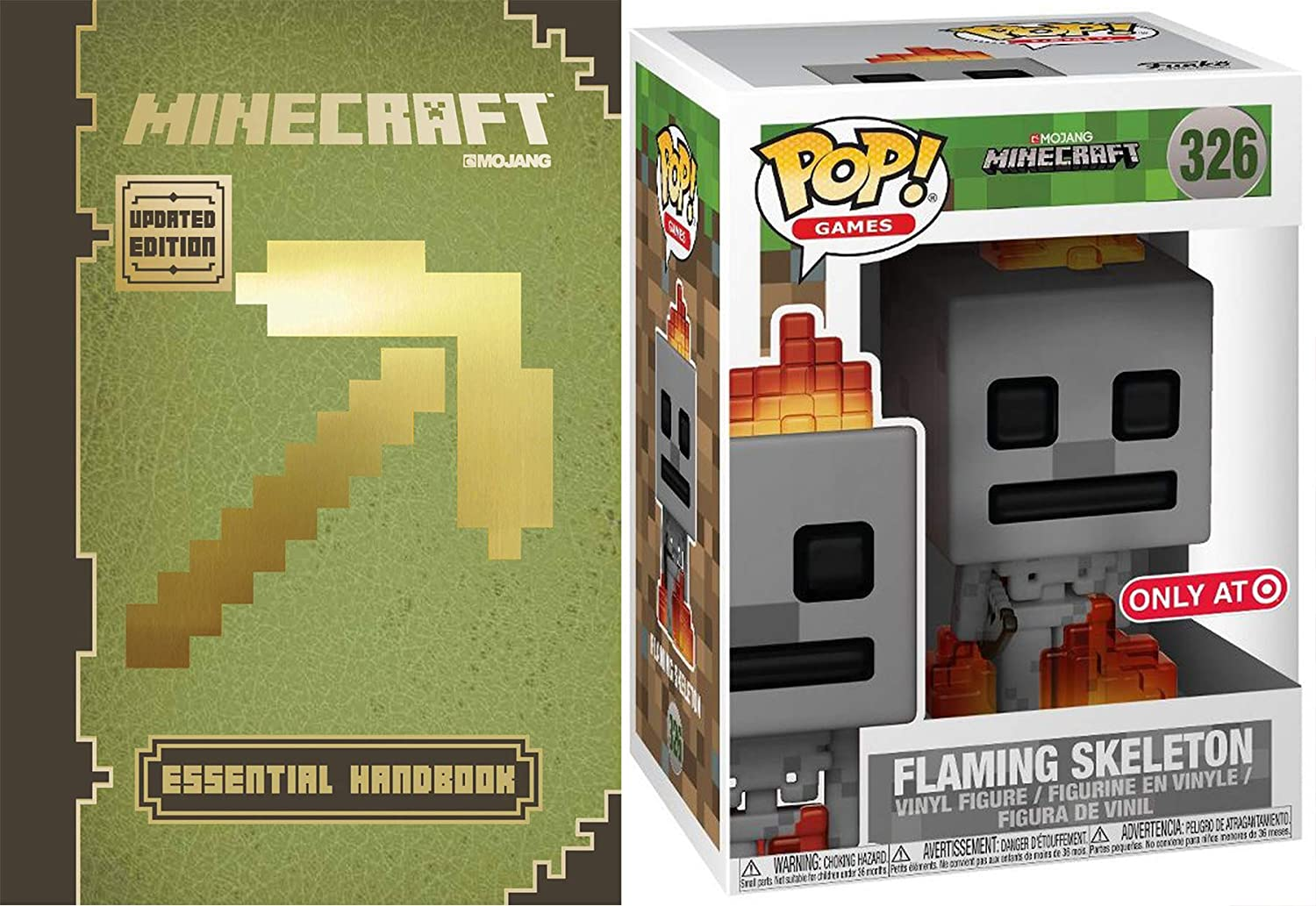 Amazon.com: Funko Fire Block Minecraft Skeleton On Fire Pop ...