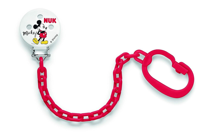 NUK 10256312 Disney Mickey Mouse, Cadena y clip para chupete, 1 ...