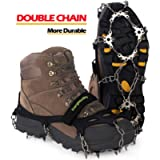 EnergeticSky Upgraded Version of Walk Traction Ice Cleat Spikes Crampons,True Stainless Steel Spikes and Durable…