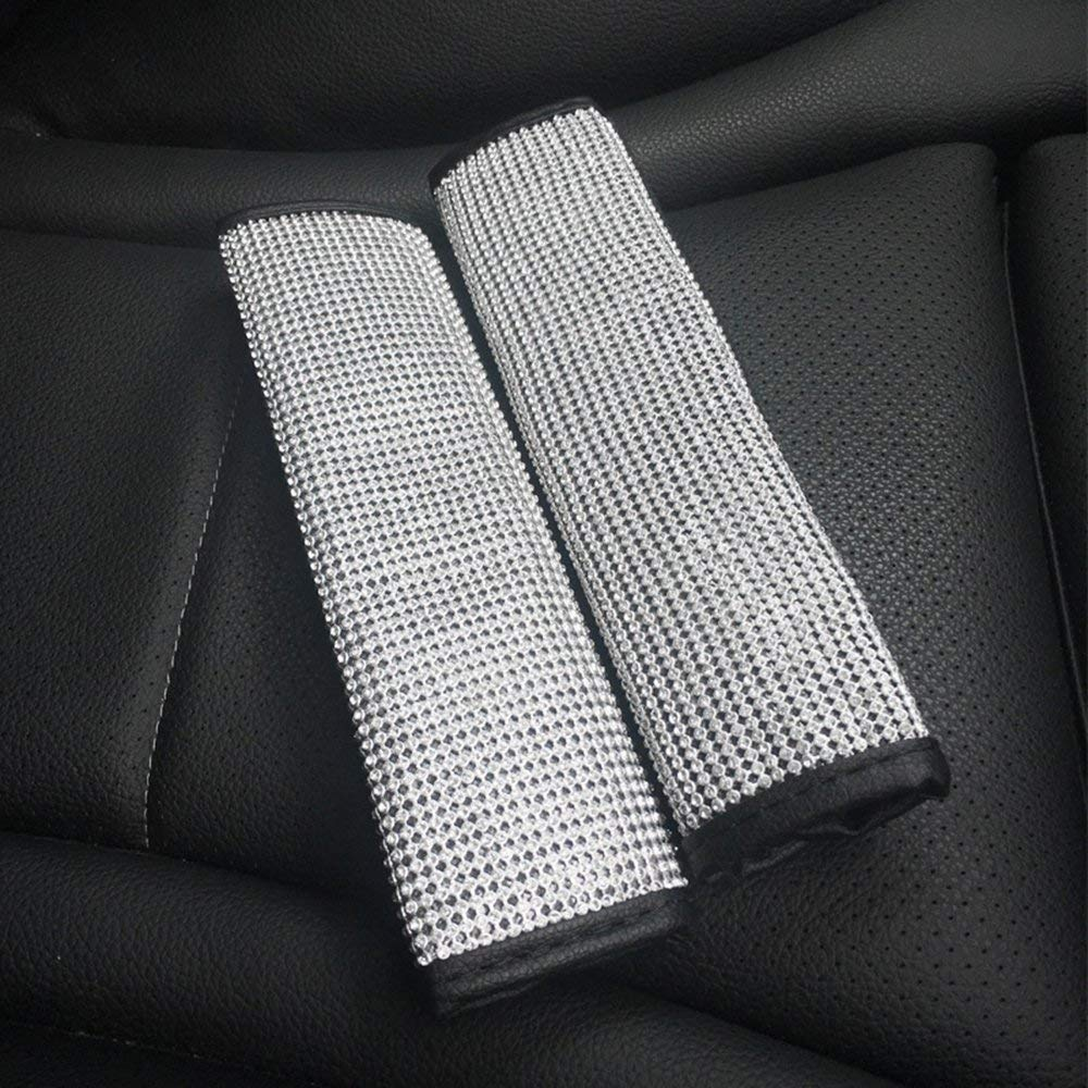 Siyibb Bling Rhinestones Car Handbrake Cover Black