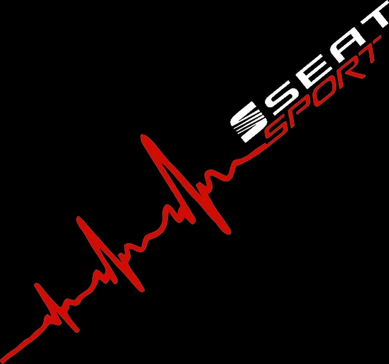 Herzschlag Aufkleber Seat Sport Ca 50x10 Cm Scheibe Sticker Lack Herz Herzlinieaufkleber Sticker Hochleistungsfolie Von Myrockshirt Estrellina Glücksstern Auto