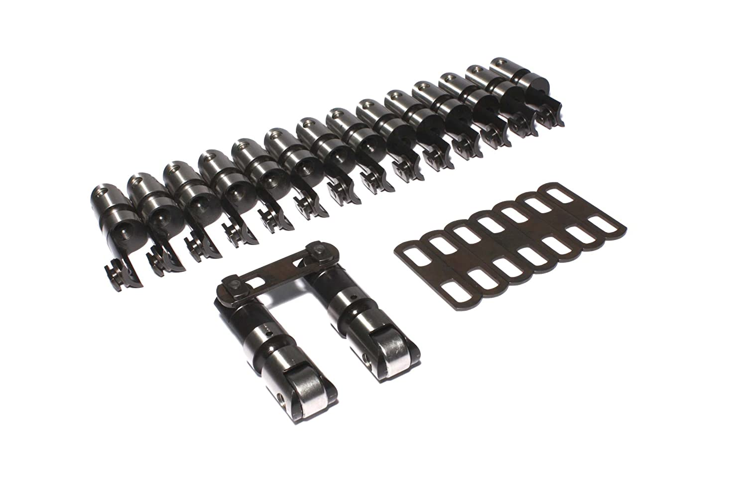 Set of 16 COMP Cams 8992-16 Endure-X Solid Roller Cutaway Lifter for GM SB2 Head,