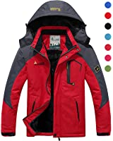 CIOR Men And Women Snow Jacket Windproof Waterproof Ski Jackets Winter Hooded Mountain Fleece Outwear