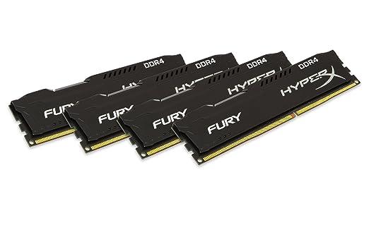 15 opinioni per Kingston HyperX Fury HX424C15FBK4/32 Memoria RAM da 32GB, Nero