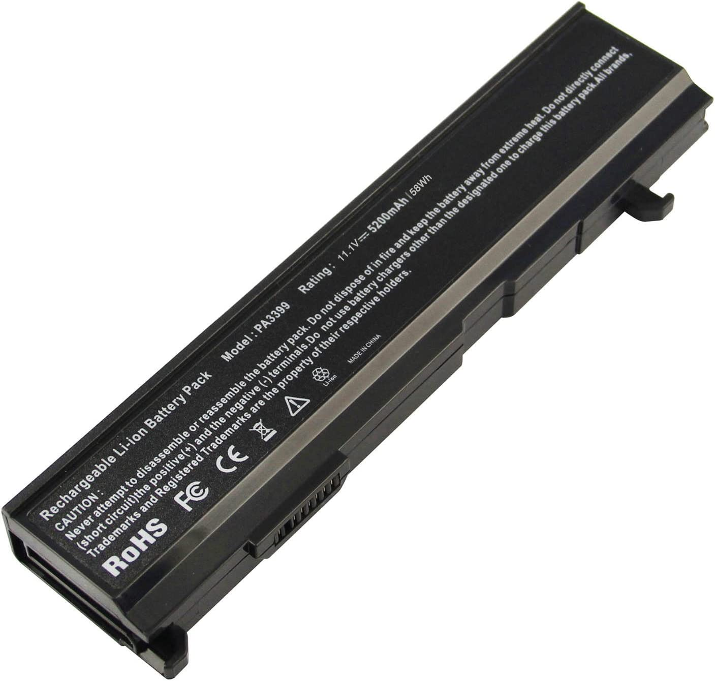 ARyee PA3399U-1BRS Battery Compatible with Toshiba PA3399U-1BAS PA3399U-2BAS PA3400U-1BRS PA3478U-1BRS PABAS057 PABAS076(5200mAh 11.1V)