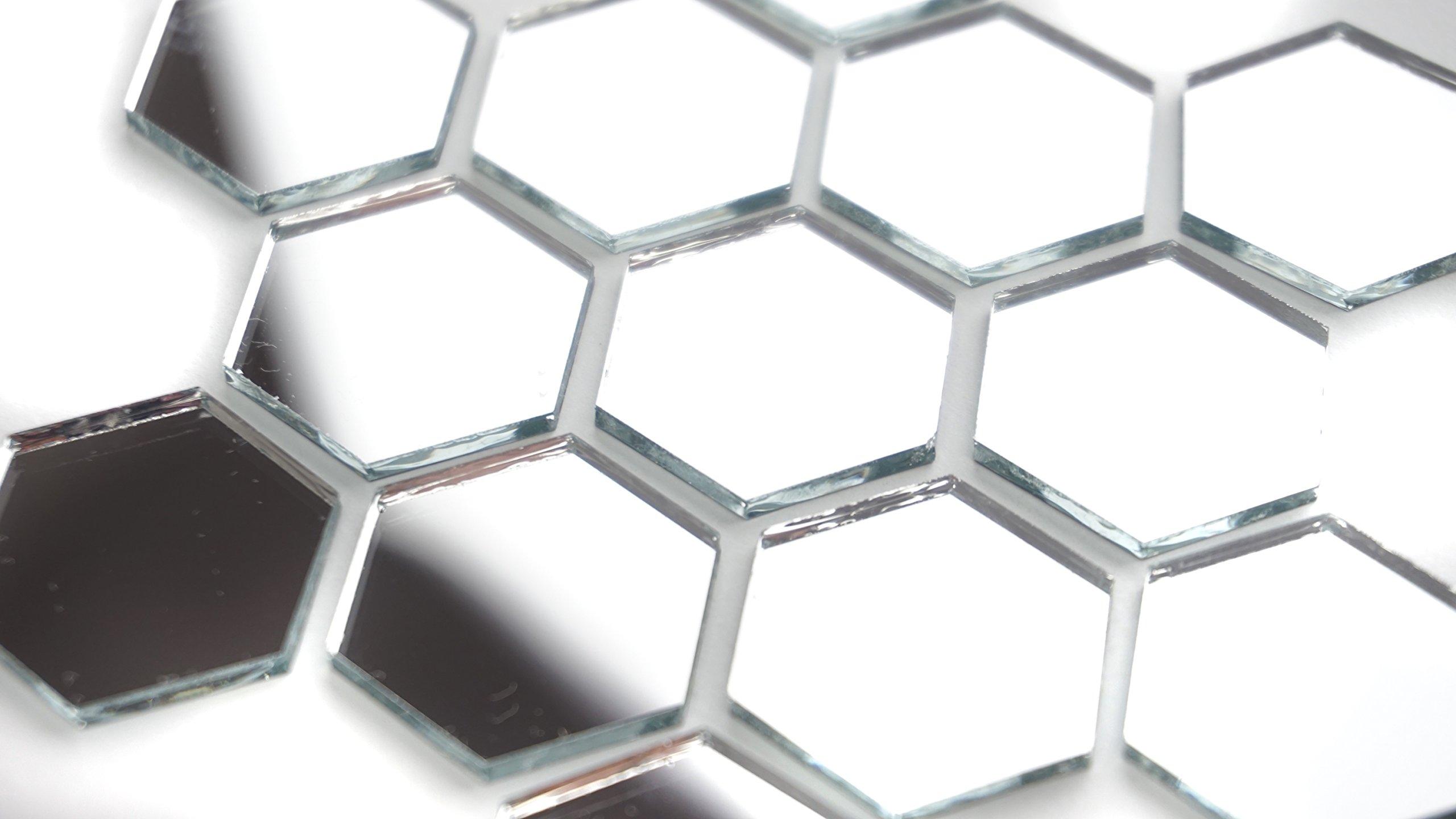 1'' Hexagonal Mirror Mosaic Tile. 100 pcs by Aleksander Hreben