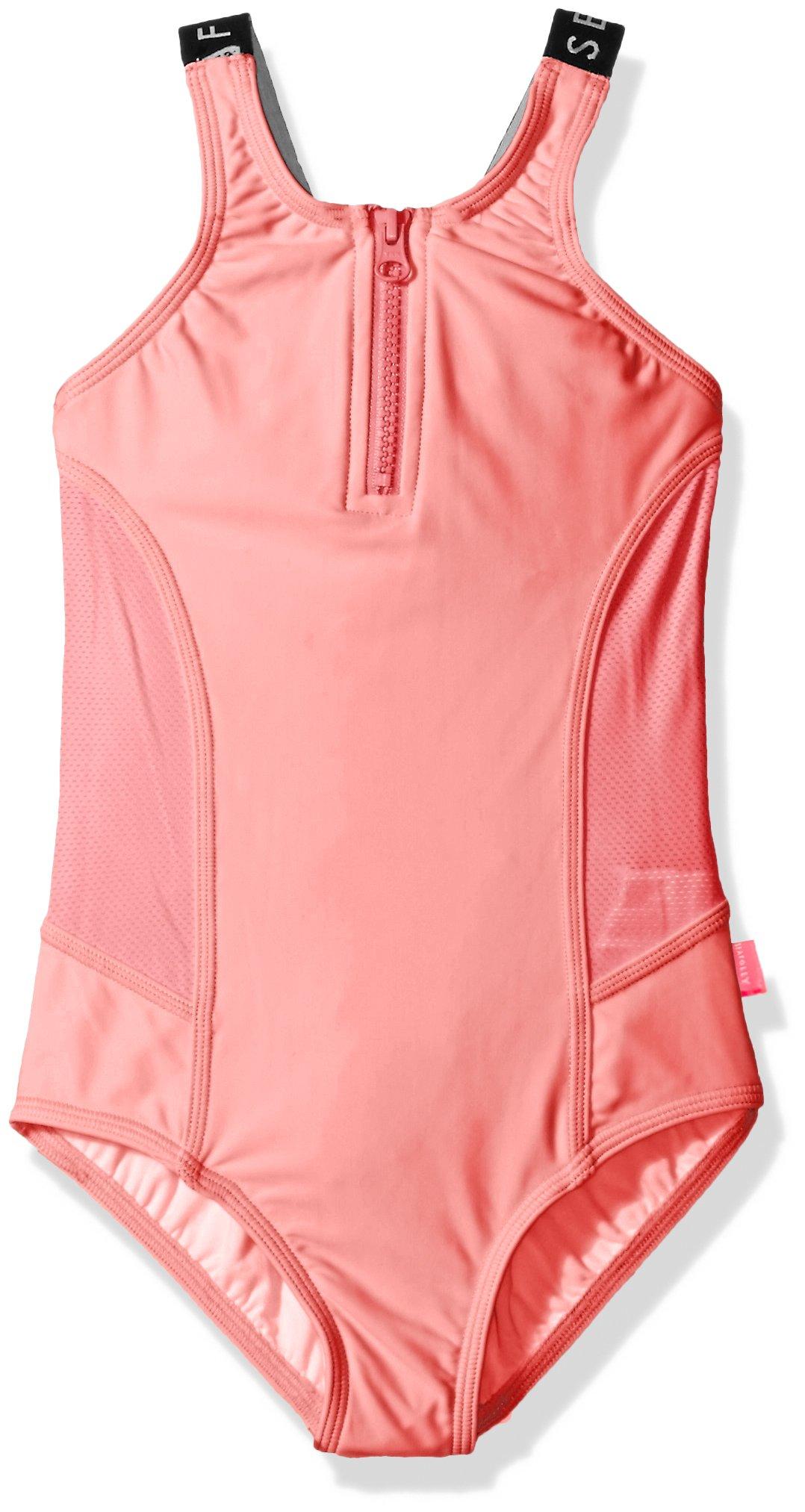 Seafolly Big Girls' Summer Essentials Tank, Coral Pink, 10
