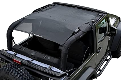 f22569e1c38 Image Unavailable. Image not available for. Color: Alien Sunshade 2-Door Jeep  Wrangler Mesh Shade Top Cover ...
