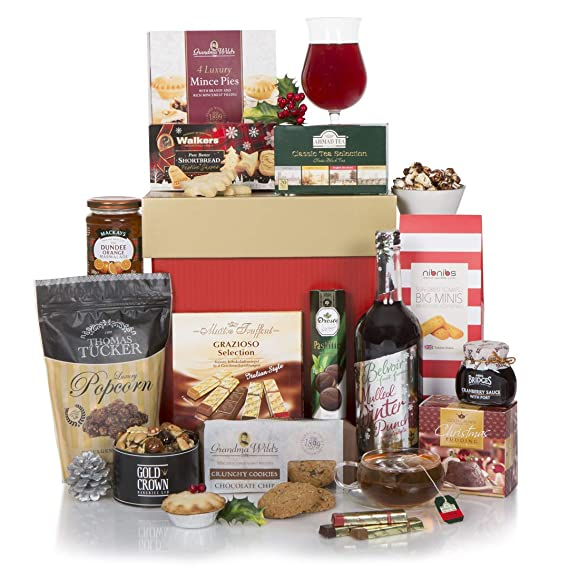 Christmas Hampers.Gourmet Christmas Hamper Non Alcoholic Xmas Gift Hampers For Him Or For Her