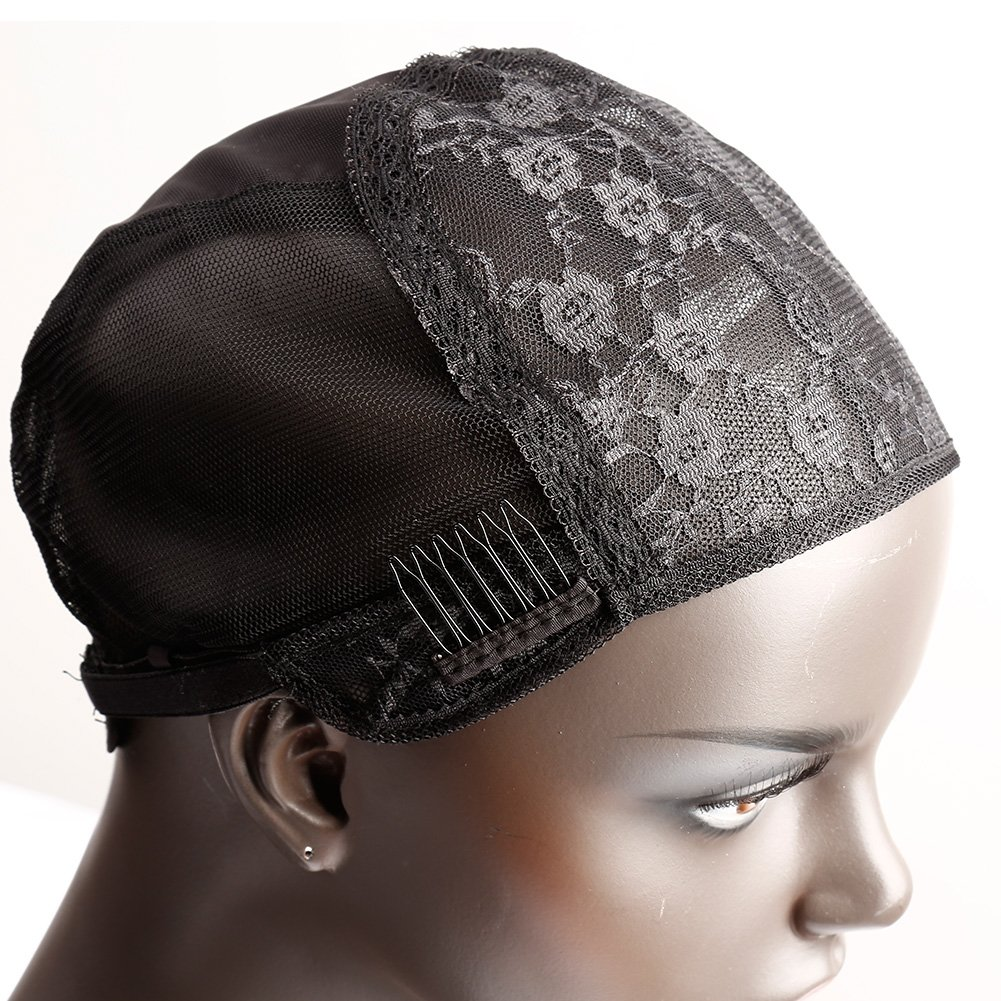 Amazon.com  Bella Hair Glueless Wig Caps for Making Wig with Combs and  Adjustable Straps Swiss Lace Black Small Size  Beauty 2984695657a