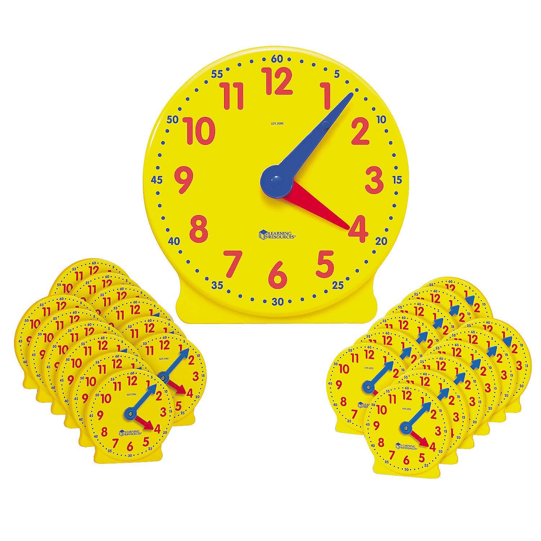 Fun Express - Classroom Clock Kit - Educational - Teaching Aids - Math - 24 Pieces