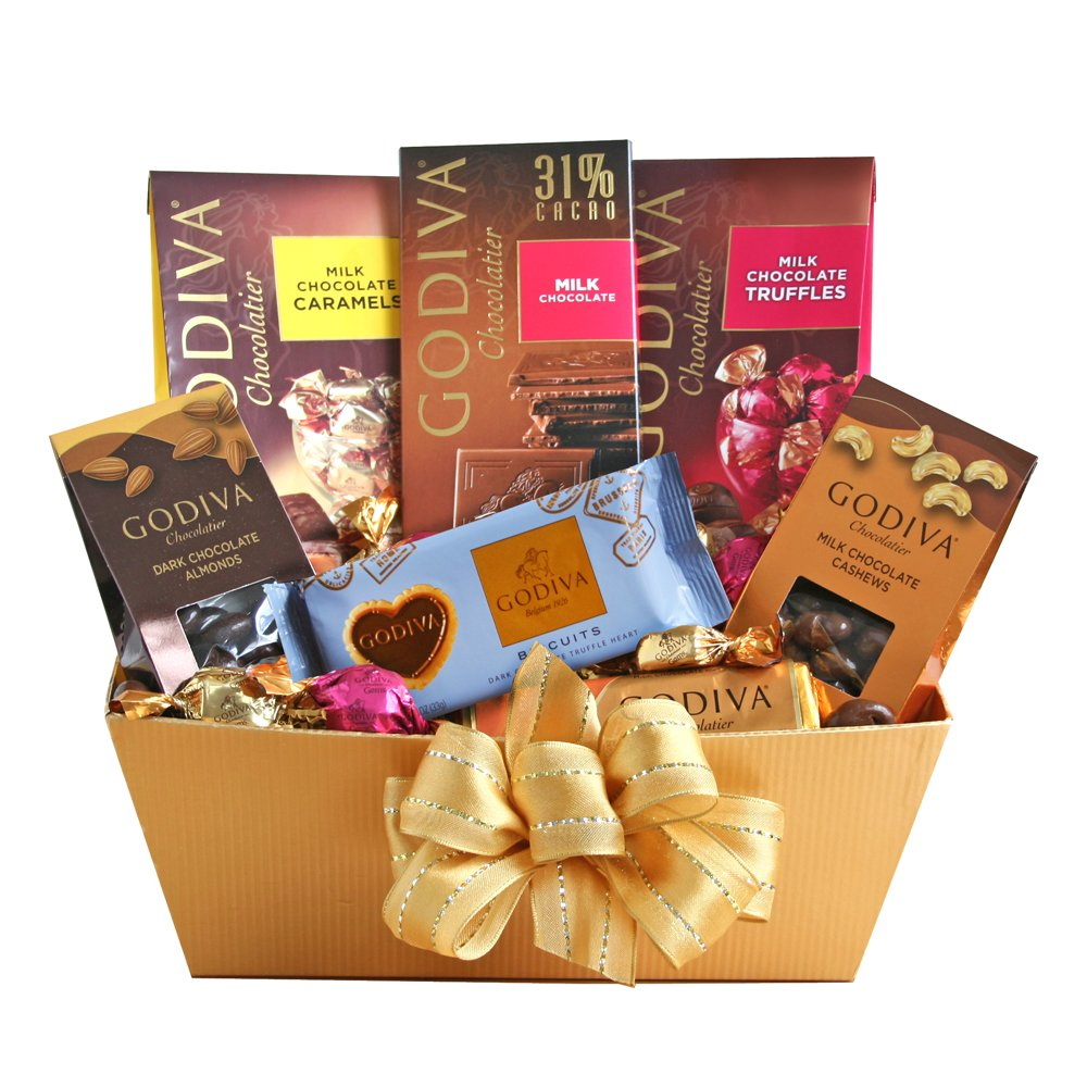 California Delicious Godiva Milk Chocolate Gift Basket