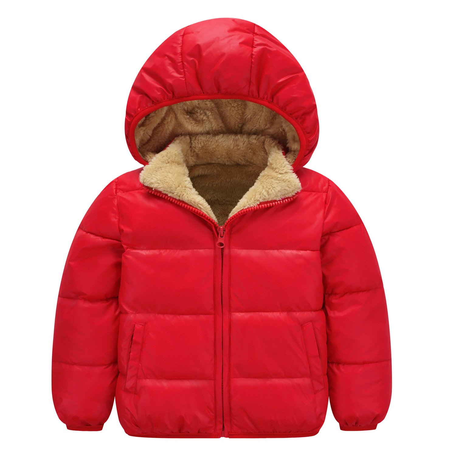 AnKoee Baby Boys Winter Coat Kids Thicken Down Jacket Down Jacket Winter Warm Hooded Coat