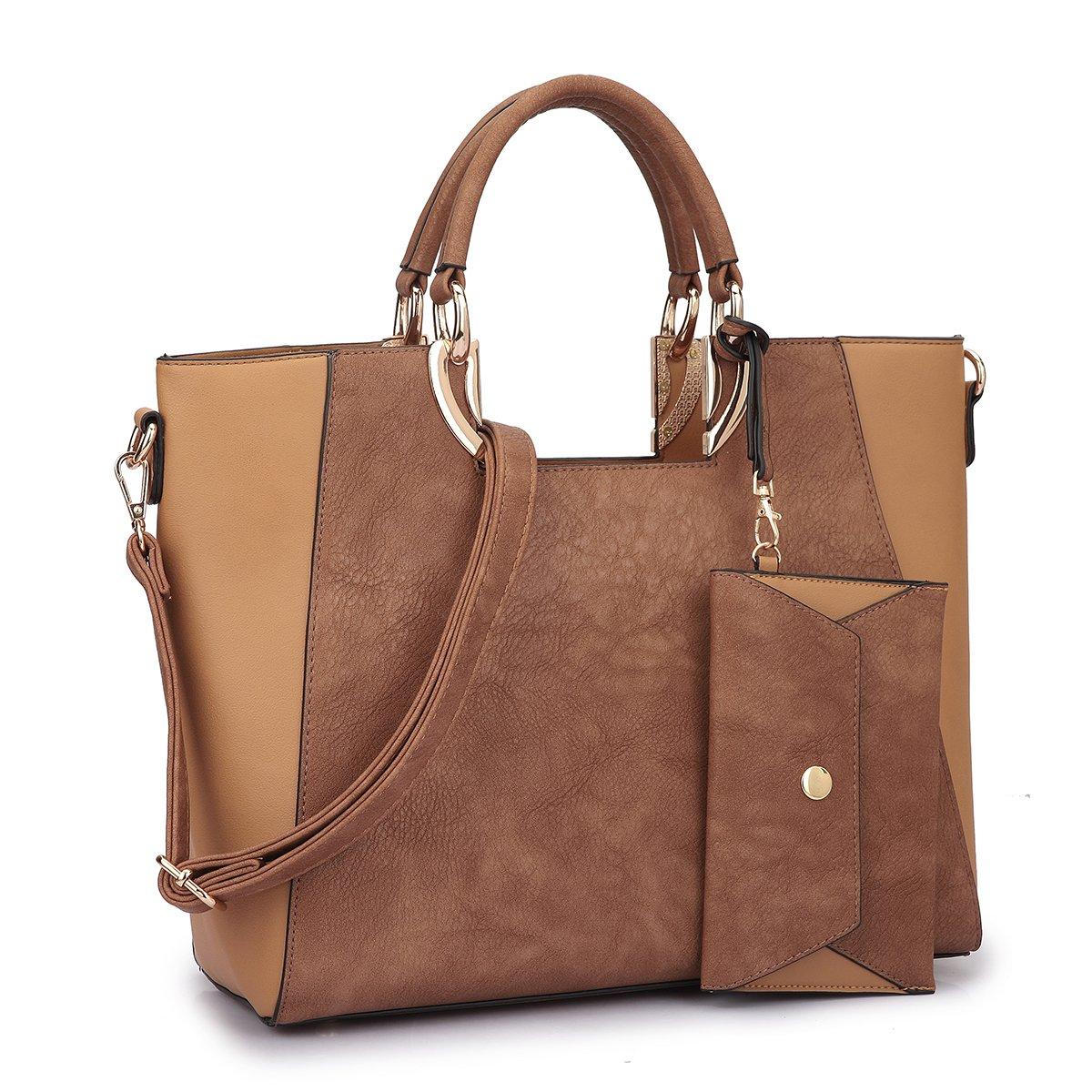 1eb4c4a68a3 Amazon.com  MMK collection Fashion Handbag with coin purse Classic Women  Purse Handbag for Women` Signature fashion Designer Satchel Purse ~  Beautiful ...