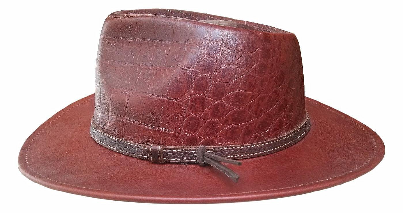 Mens argentine authentic leather western cowboy hat