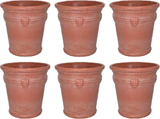 product image for Suncast Waterton 18 Inch Resin Round Decorative Flower Pot Planter (6 Pack)