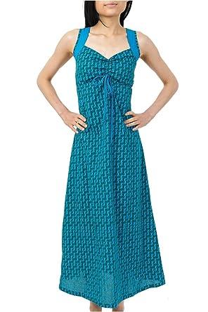 aca4eebc4ce FANTAZIA Robe Longue Boheme Imprime Ethnique Baba -  Amazon.fr  Vêtements  et accessoires