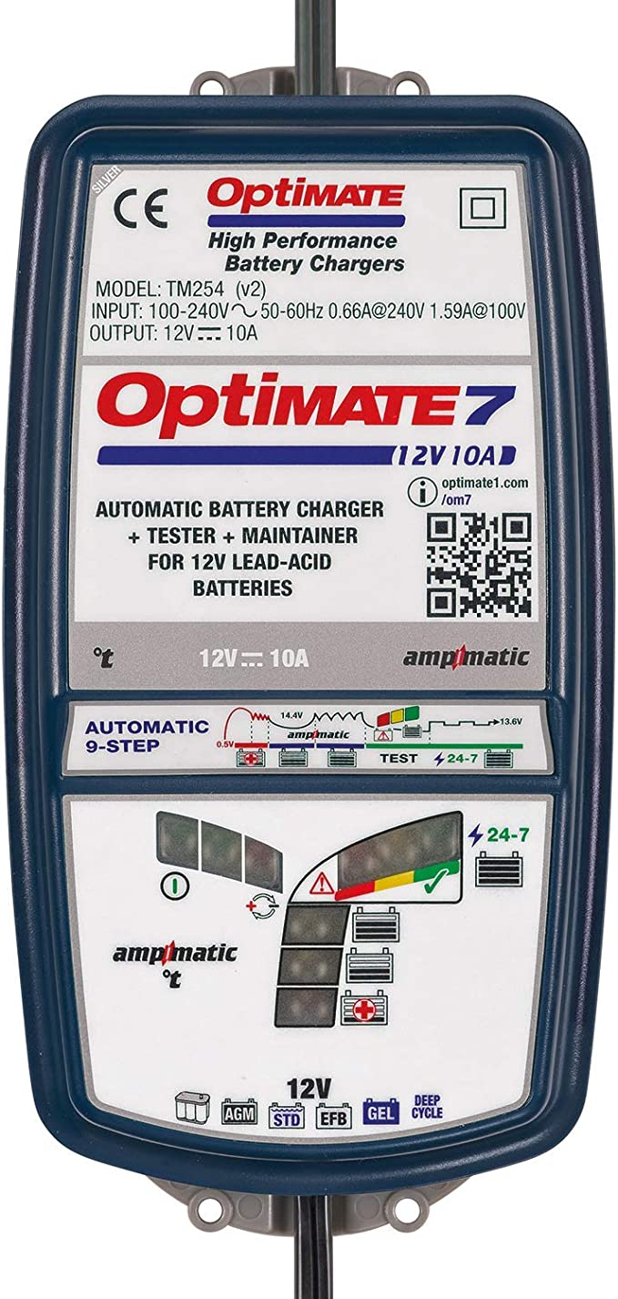 Optimate Tm256 Optimate7 Ampmatic 7 12 V 10 A Battery Charger Auto